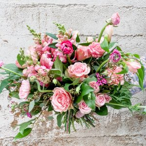 Living Fresh Flower and Plant Studio - Pink in Pink Hand-tied Flower Bouquet