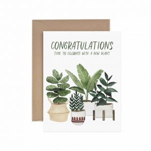 Living Fresh Flower and Plant Studio - Paper Anchor Card - Congrats_New_Plant