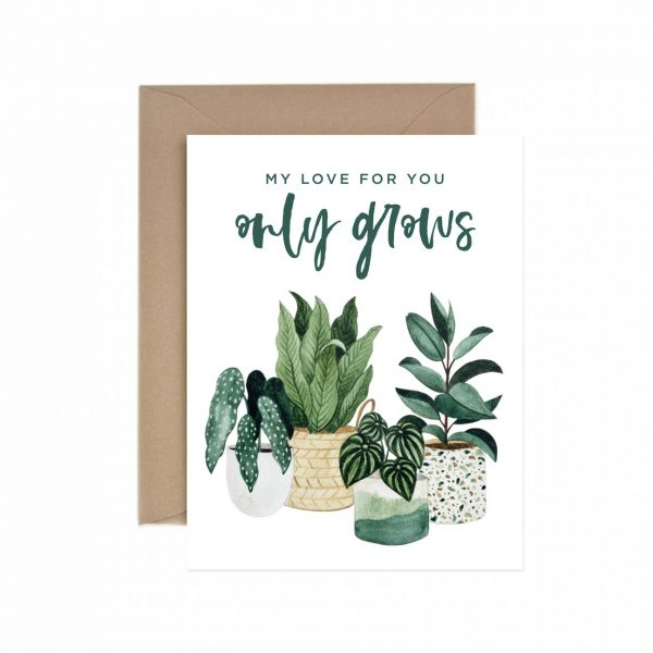 Living Fresh Flower and Plant Studio - Paper Anchor Card - Love_Grows
