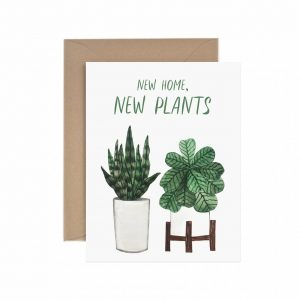 Living Fresh Flower and Plant Studio - Paper Anchor Card - New_Home_New_Plants