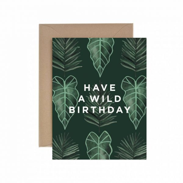 Living Fresh Flower and Plant Studio - Paper Anchor Card - Wild_Birthday_Card