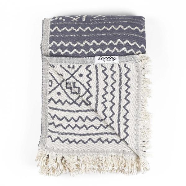 Living Fresh Flower and Plant Studio - Sunday Dry Goods - Roan Throw- Charcoal