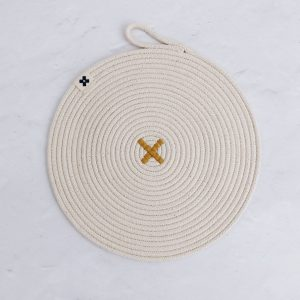 Living Fresh Flower and Plant Studio - Rope Trivet_Ochre