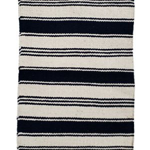 Living Fresh flower and Plant Studio - White and Blue Striped Rug