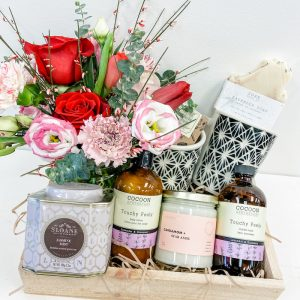 Living Fresh Flower and Plant Studio - Lovers at Home Gift Box