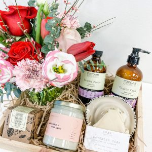 Living Fresh Flower and Plant Studio - Valentine's Gift Box