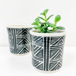 Living Fresh Flower and Plant Studio - Love Bites Ceramics - Ceramic Plant Pot