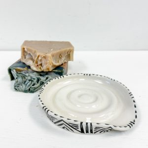 Living Fresh Flower and Plant Studio - Love Bites Ceramics Soap Dish