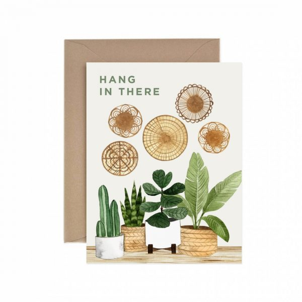 Living Fresh Flower and Plant Studio - Hang In There Card