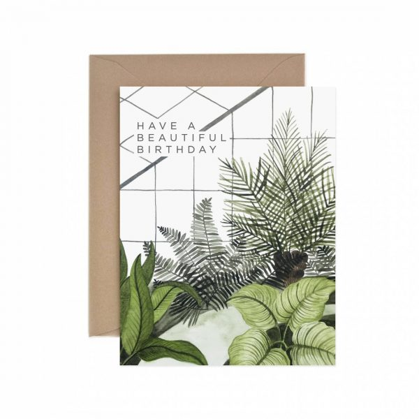 Living Fresh Flower and Plant Studio - Have a Beautiful Birthday Greenhouse Card